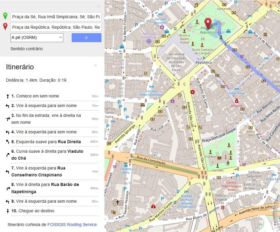 Como chegar da Praça da Sé até a Praça da República em São Paulo