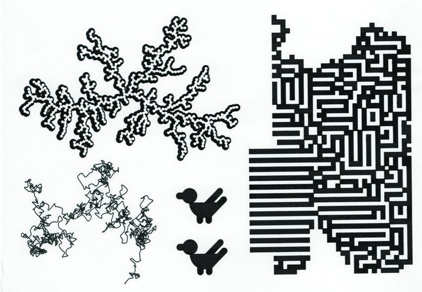 Desenhos em plotter de caneta por Contrast